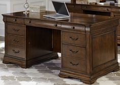 Chateau Valley Home Office Junior Executive Home Office Desk   Liberty   901-HO105B+901-HO105T