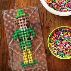 Buddy the Elf - Christmas perler beads by julie_stamps