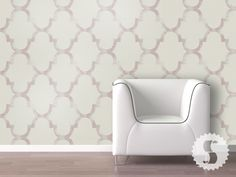 Temporary Wall Paper:  Distressed Trellis Large Print  Paint: Behr UL100-15 Cameo Rose, ICC-38 Lime Juice