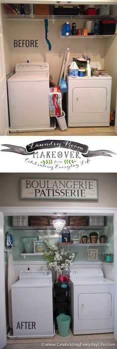 Before & After, My Laundry Room Makeover | Celebrating everyday life with…