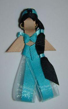 Disney Princess Inspired Ribbon Sculpture Hair Clip, Magnet, Hat or Pin Pick One | eBay