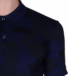 ZEGNA SPORT: Polo Manches Courtes Piqué Col polo Fermeture avec boutons B Bleu, Détail 2 - 37524875DR