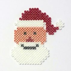 christmas santa hama perler beads by flights of fancy hama beads pinterest hama perles. Black Bedroom Furniture Sets. Home Design Ideas