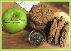 Estas galletas de manzana y chia son deliciosas y muy nutritivas; hechas con ingredientes simples y naturales. No lleven ni harina, ni lácteos, ni azúcar.