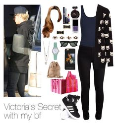 """""""Victoria's Secret with Niall"""" by myllenna-malik ❤ liked on Polyvore featuring adidas, ONLY, Givenchy, Betsey Johnson, Estée Lauder, Forever 21, Emporio Armani, Kate Spade, Ray-Ban and Victoria's Secret"""
