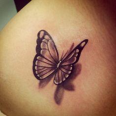 3d Butterfly Tattoo - http://16tattoo.com/3d-butterfly-tattoo/