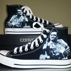 a5e4737a1a3 Johnny Cash The Finger Chucks by InstaChucks on Etsy