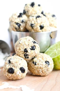 Coconut-Lime and Blueberry Energy Balls