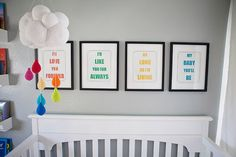 Bebé móvil vivero Crochet móvil móvil con las por HannahandAspen