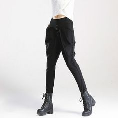 British Style Wave Point Harem Pants High Waist //Price: $52.55 & FREE Shipping //     #house #style #art