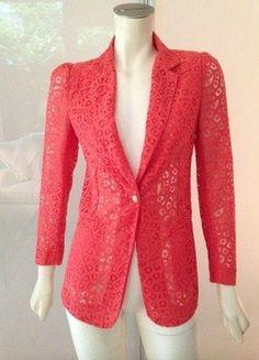 Kaufe meinen Artikel bei #Kleiderkreisel http://www.kleiderkreisel.de/damenmode/blazer-blazer/137052138-hoss-intropia-blazer-jacke-36-orange-rot-spitze-baumwolle-jacket-coral-red-s