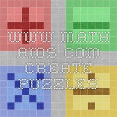 www.math-aids.com... create puzzles