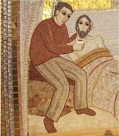 """J'avais soif et vous m'avez donné à boire"""", église de Tous les Saints, Ljubljana"""