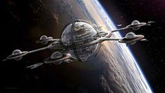 55 Ideas For Science Fiction Ships Space Station Spaceship Art, Spaceship Design, Spaceship Concept, Concept Ships, Space Ship Concept Art, Space Fantasy, Sci Fi Fantasy, Sci Fi Ships, Star Wars Rpg