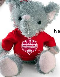 Big Al 2012 BCS National Championship plush for Spring 2013 available at Blue Bumble Bee...we ship!