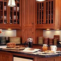 Mission style cabinetry