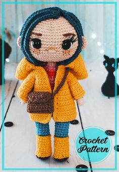 Doll Amigurumi Free Pattern, Crochet Cat Pattern, Crochet Amigurumi Free Patterns, Crochet Bear, Amigurumi Doll, Kawaii Crochet, Cute Crochet, Crochet Doll Tutorial, Amigurumi Tutorial