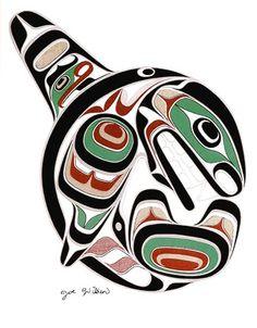 Coast Salish Killerwhale art card- Joe Wilson  I am proud to work with coast salish people