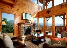 Gatlinburg Vacation Rental Chalet: FAVORED BY FORTUNE - Jackson Mountain Homes