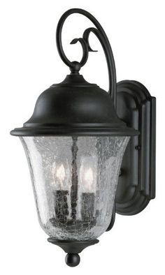 Westinghouse Lighting 6484300 Two-Light Exterior Wall Lantern, Vintage Bronze Finish on Steel with Clear Crackle Glass by Westinghouse. $84.97. From the Manufacturer                This Westinghouse Lighting Two-Light Exterior Wall Lantern features a beautiful steel scroll arm and frame with vintage bronze finish. The clear crackle glass slopes handsomely into an inverted bell shape, and it filters pleasant, gentle light.  Mount this traditional fixture beside your fron...