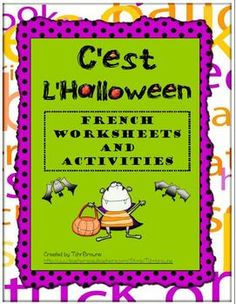 55 pages of French Halloween activities. Ideal for French as a second language.  Just for you Kristin!
