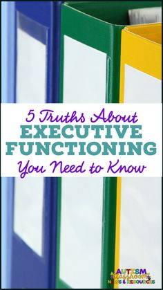 Whether you have never heard of executive functioning or you think you are an expert, these truths might make you think. No matter the age or the grade, disability or not, all students typically benefit from learning strategies to improve executive functioning. #executivefunctioning #specialeducation #inclusion