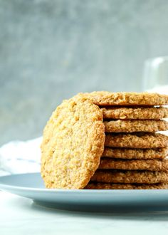 Chewy Coconut Oatmeal Cookies - Knead Some Sweets Sweets Recipes, No Bake Desserts, Cookie Recipes, Bar Recipes, Oatmeal Coconut Cookies, Cooking Oatmeal, Salted Butter, Favorite Recipes, Baking
