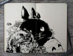 30 dessins et peintures inspirés par le studio Ghibli  Dessein de dessin