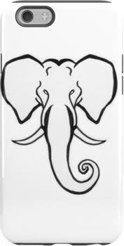 Elephant iphone case by Afrikraaft http://www.redbubble.com/people/afrikraaft/works/16554424-african-elephant?ref=recent-owner  Visit www.afrikraaft.com
