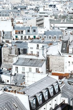 FOR THE HONEYMOON || White rooftops in Paris || NOVELA...where the modern romantics play & plan the most stylish weddings...Instagram: /novelabride/ http://www.novelabride.com