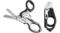Leatherman Raptor multi-tool for medics features 420HC stainless steel shears, a strap cutter, a carbide glass breaker, a ring cutter, a ruler, and an oxygen tank wrench.