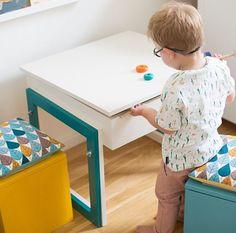 diy anleitung mitwachsenden kindertisch selber bauen mit versteckfach f rs kinderzimmer. Black Bedroom Furniture Sets. Home Design Ideas