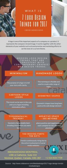 7 Logo Design Trends for 2017 [Infographic] Consult your web design company what kind of branding you want to create , see more - https://imediadesignblog.wordpress.com/2017/02/28/7-logo-design-trends-for-2017/