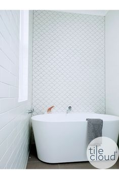 TileCloud Customer Project | Coral Bay Matt White Fish Scale Tile