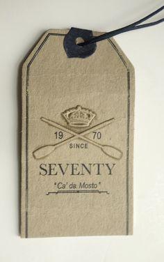 Hang tag carton SEVENTY
