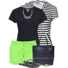 Chino Shorts & Navy Tee