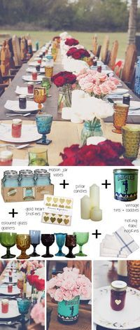 Sooo my style! How to style a boho tablescape (backyard bohemian) | SouthBound Bride www.southboundbride.com Credit: Brooke Schwab
