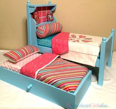DIY American Girl Bouquet Bed Back before Christmas Iposted the plans for the American Girl Bouquet Bed. It had been requested many times but Inever found the time to actually build it. Finally I was able to put the plans together for it thanks to measurements from my friend Shelly over at Shelly'sDoll World. Even …