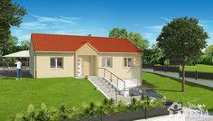 Maisons VESTA :  Modèle Havana (sous-sol). 90m² + 98 m² surface annexe. Type F5. Facade, Basement, Havana, Shed, Outdoor Structures, Mansions, Type, Surface, House Styles