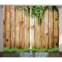 Rustic Shower Curtain Wooden Garden Fence Print for Bathroom Wooden Fence, Wooden Garden, Wooden Walls, Wooden Flooring, Cedar Fence, Bamboo Fence, Rustic Shower Curtains, Shower Curtain Sets, Backyard Fences