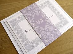 Art Nouveau / Art Deco Wedding Invitation - 'Vintage Border' Design - One Sample. $4.00, via Etsy.