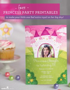 Free Princess party printables to make your little one feel extra royal on her big day! | Cardstore Blog