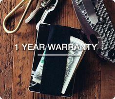 The Ridge Wallet: Slim, RFID blocking metal wallet.