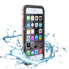 Ultral thin Metal Waterproof phone Case for iPhone 6 6s plus sport mobile phone accessories Shock Dirt Snow Proof fundas conque
