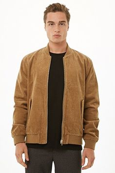Shop men's coats & jackets at Forever Find the latest styles for men's bomber jackets, denim jackets, blazers and faux leather jackets. Bomber Jacket Men, Corduroy Jacket, Mens Outdoor Jackets, Outfits Hombre, Men's Coats And Jackets, Winter Wear, Style Me, Windbreaker, Menswear