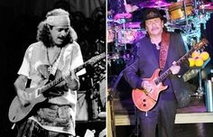 Carlos Santana (1970, 2014) - Larry Hulst/Michael Ochs Archives/Getty Images;  Laura Cavanaugh/Getty Images