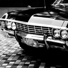 1967 Chevy Impala – – aka the car from Supernatural .P 1967 Chevy Impala – – aka the car from Supernatural . Chevrolet Impala 1967, Impala 67, Chevrolet Trucks, Stance Nation, Dean Winchester, My Dream Car, Dream Cars, Jdm, Carros Vintage