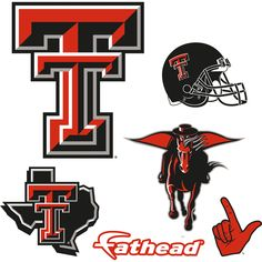 Texas Tech Red Raiders: Logo Assortment - Large Officially Licensed Removable Wall Decals