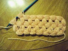 Crochet - Puff stitch pattern. #crochet #crochetstitch #puffstitch