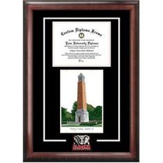 University of Alabama Crimson Tide Bama Alumni Mahogany Diploma Frame